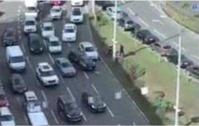 У центрі Києва через бійку водіїв зібрався затор