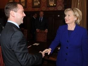 Клинтон встретилась с Медведевым