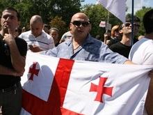 Полторы сотни грузин объединились в живую цепь в центре Киева
