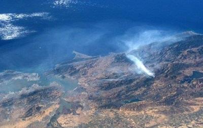 Пожежу в Каліфорнії зняли з космосу