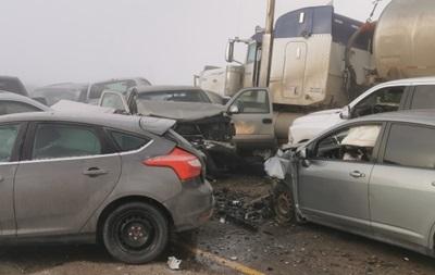 В Канаде на шоссе столкнулись 20 автомобилей