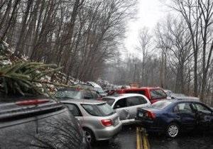 В американском штате Коннектикут столкнулись более 50 автомашин: ранены 46 человек