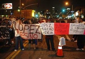 В Лос-Анджелесе вспыхнули массовые беспорядки из-за гибели иммигранта из Гватемалы