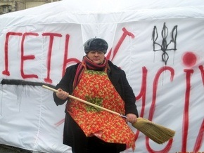 Братство заявило о разгроме палаточного городка Геть усіх на Майдане