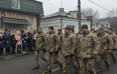 В Тернополе военные вышли на  Шествие мужества