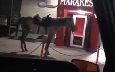 Чоловік на коні влаштував стрілянину в кафе