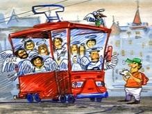 Швейцарский трамвай стал винницким рестораном