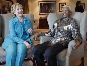 Хиллари Клинтон встретилась с Нельсоном Манделой