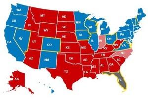 Чистая победа. Обама опережает Ромни на 97 голосов выборщиков