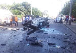 новости Киева - За рулем Infiniti, спровоцировавшей крупное ДТП в Киеве, был сотрудник СБУ