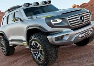 Mercedes показала концепт-кар - брутальный джип с водородным двигателем