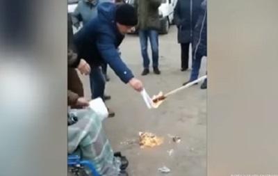Жители Житомирщины сожгли платежки за доставку газа