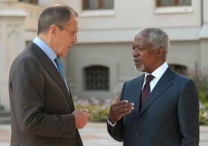 Путин и Аннан обсудят в Москве ситуацию в Сирии