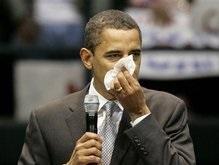 Обама высморкался под аплодисменты