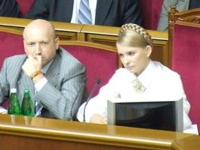 Тимошенко вернулась в зал заседаний Рады