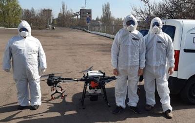 Киевские предприятия дезинфицируют беспилотниками