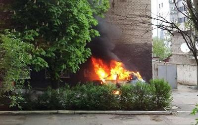 В Донецке взорвалось авто
