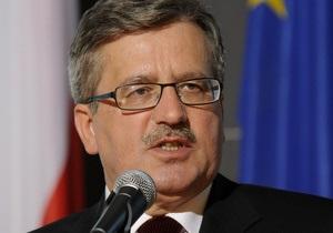 Коморовский заявил, что украинская власть стремится к интеграции с Европой