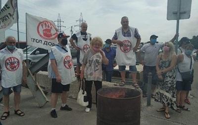 В Харькове предприниматели c рынка Барабашово устроили забастовку