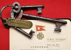 Меню с Титаника продали на аукционе за 76 тысяч фунтов