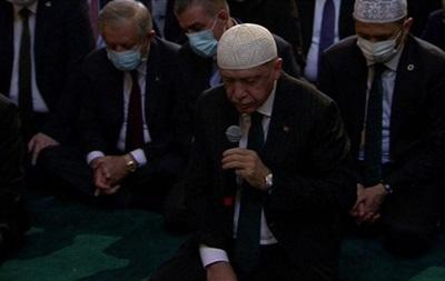 Эрдоган посчитал число прихожан мечети Айя-София