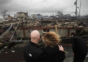 Ураган Сэнди теряет силу на побережье США и движется вглубь материка