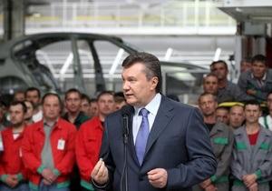Янукович считает своим долгом создание в Украине благоприятных условий для работы инвесторов