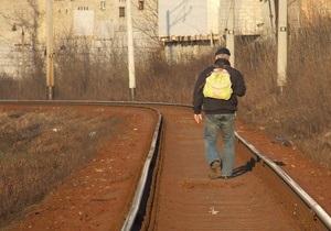 С начала года в Украине за хождение по путям задержали свыше 2000 человек