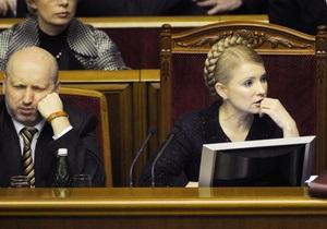 Совет Рады решил рассмотреть отставку Тимошенко 3 марта