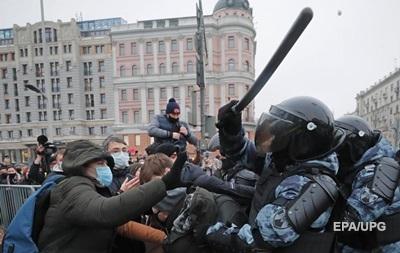 В России рекордное число задержаний на протестах