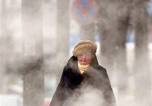 В России выпал розовый снег