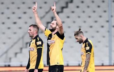 Шахов забив гол за АЕК в матчі чемпіонату Греції
