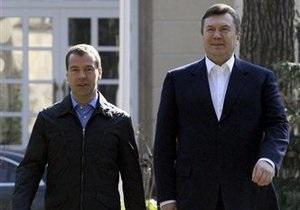 Янукович рассказал, о чем будет говорить с Медведевым
