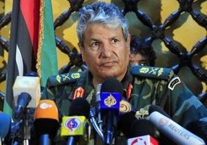 Командующий войсками ливийских мятежников был застрелен неизвестными в Бенгази