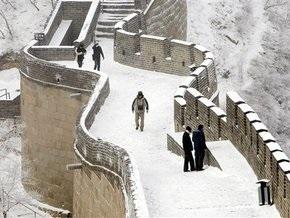 В Китае искусственный снегопад парализовал движение на 12 главных автомагистралях
