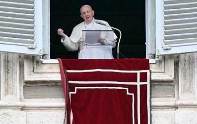 Папа Римский призвал снять напряжение на Донбассе