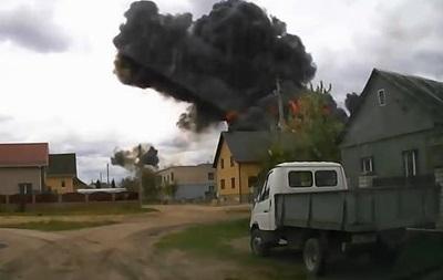 Крушение Як-130: момент взрыва попал на видео