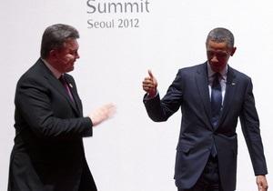 Янукович встретился в Сеуле с Обамой