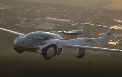 Летающая машина-трансформер AirCar пролетелась между городами