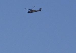 В центре грузинского города упал вертолет