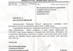 Львовская прокуратура собирает информацию о  гопниках