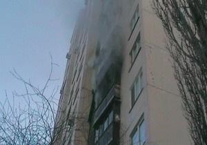 В Киеве в квартире пенсионерки сгорел балкон