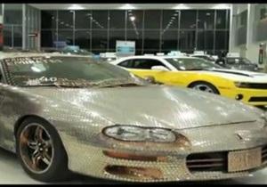 На автосалоне в Дубае представили автомобиль из 33 тысяч монет