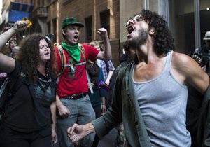 В Нью-Йорке задержаны 135 активистов движения Захвати Уолл-стрит
