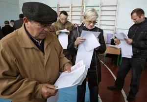 В Украине закрылись избирательные участки