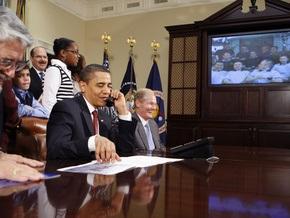 Обама пообщался с астронавтами, пребывающими в космосе