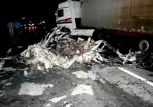 В Закарпатской области двое сотрудников ГАИ сгорели заживо в результате ДТП