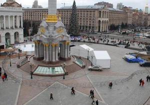 На Майдане Незалежности установили металлическую ограду
