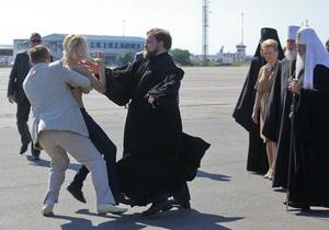 Оголившуюся перед патриархом Кириллом активистку FEMEN арестовали на 15 суток