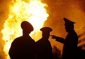 В Одесской области горел райотдел МВД
